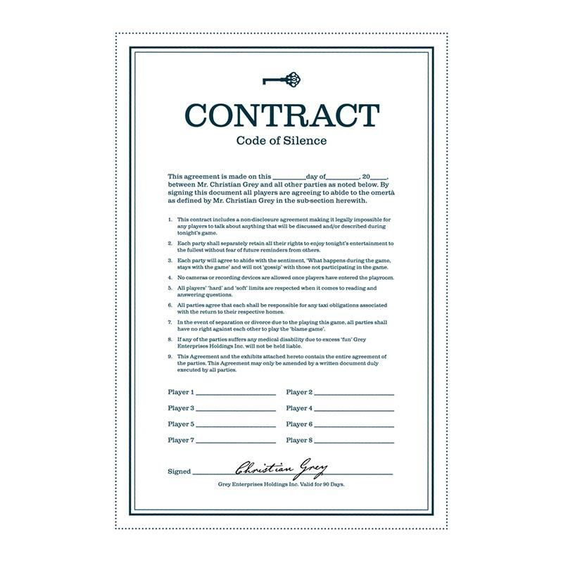 Fifty Shades of Grey Game - Contract Oulike idees Pinterest - sample non disclosure agreements