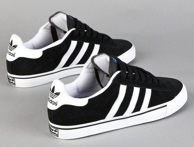 pretty nice 80a08 20be0 adidas Skateboarding Campus Vulc Low - Black   White-2