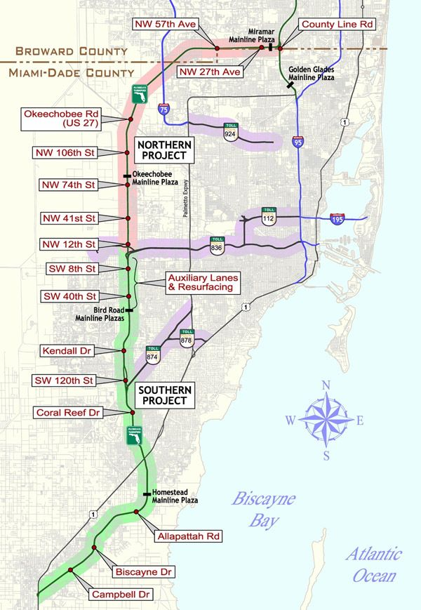 Map Of Florida Turnpike.Florida S Turnpike Extension Mapping Florida Florida Travel