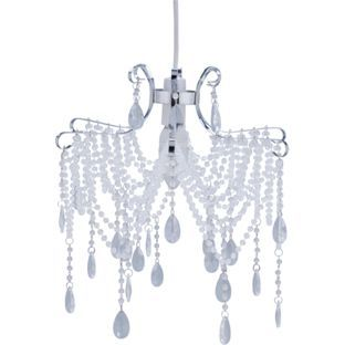 Buy annette swag beaded shade clear at argos your online buy annette swag beaded shade clear at argos your online aloadofball Images
