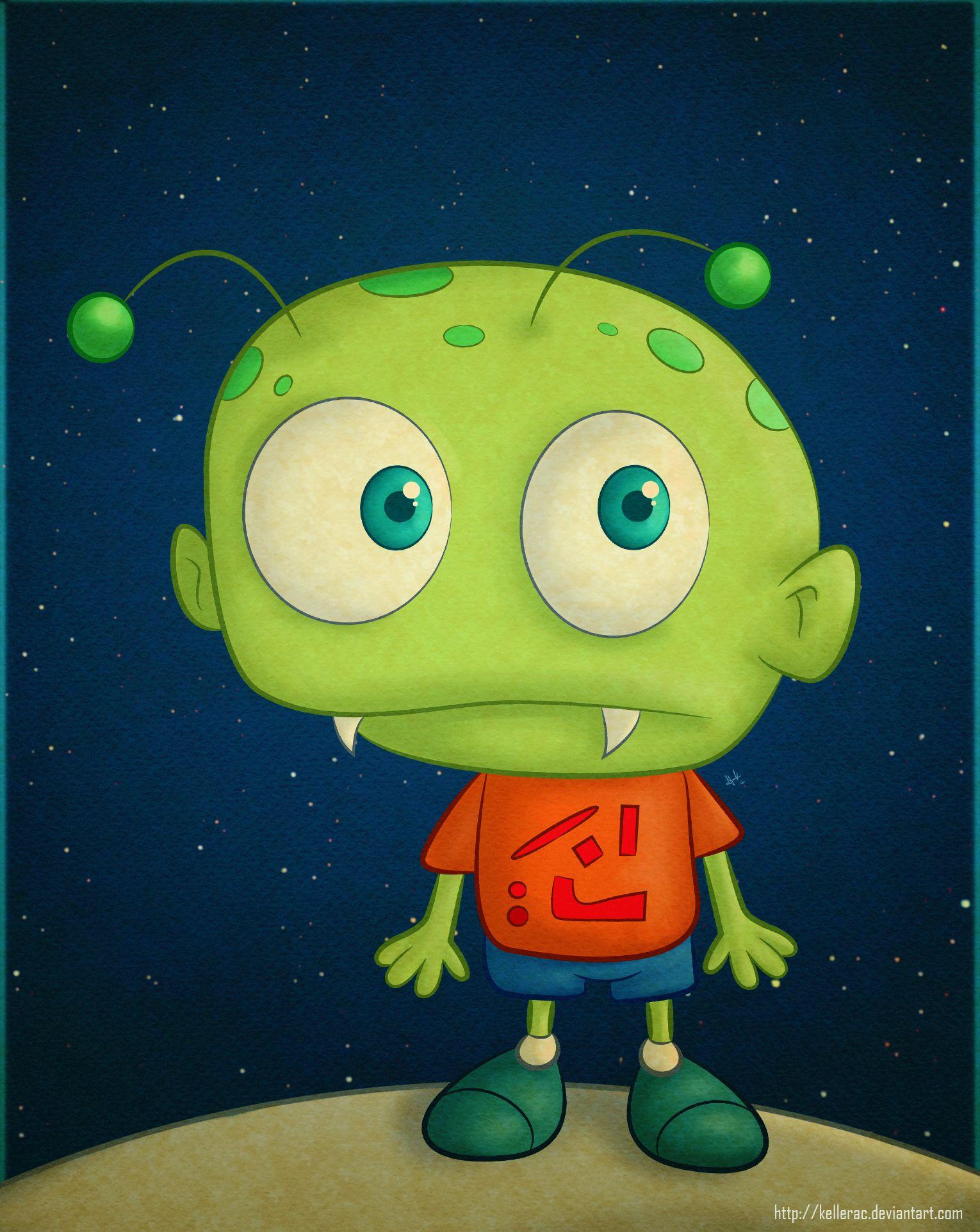 cartoon alien alien de caricatura my work pinterest