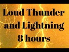 night full of extreme thunder lightning and rain sounds 8 hours