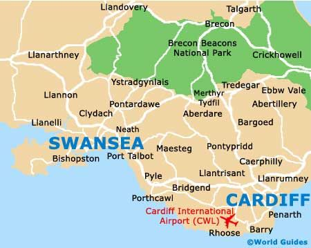 Swansea map Wales Pinterest Wales South wales and Swansea