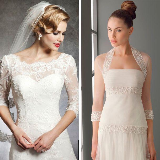 Manga tres cuartos para tu vestido de novia | Costura | Pinterest ...