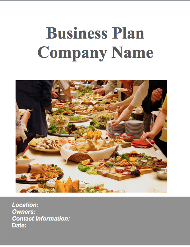 Catering Business Plan Example  Business Owners