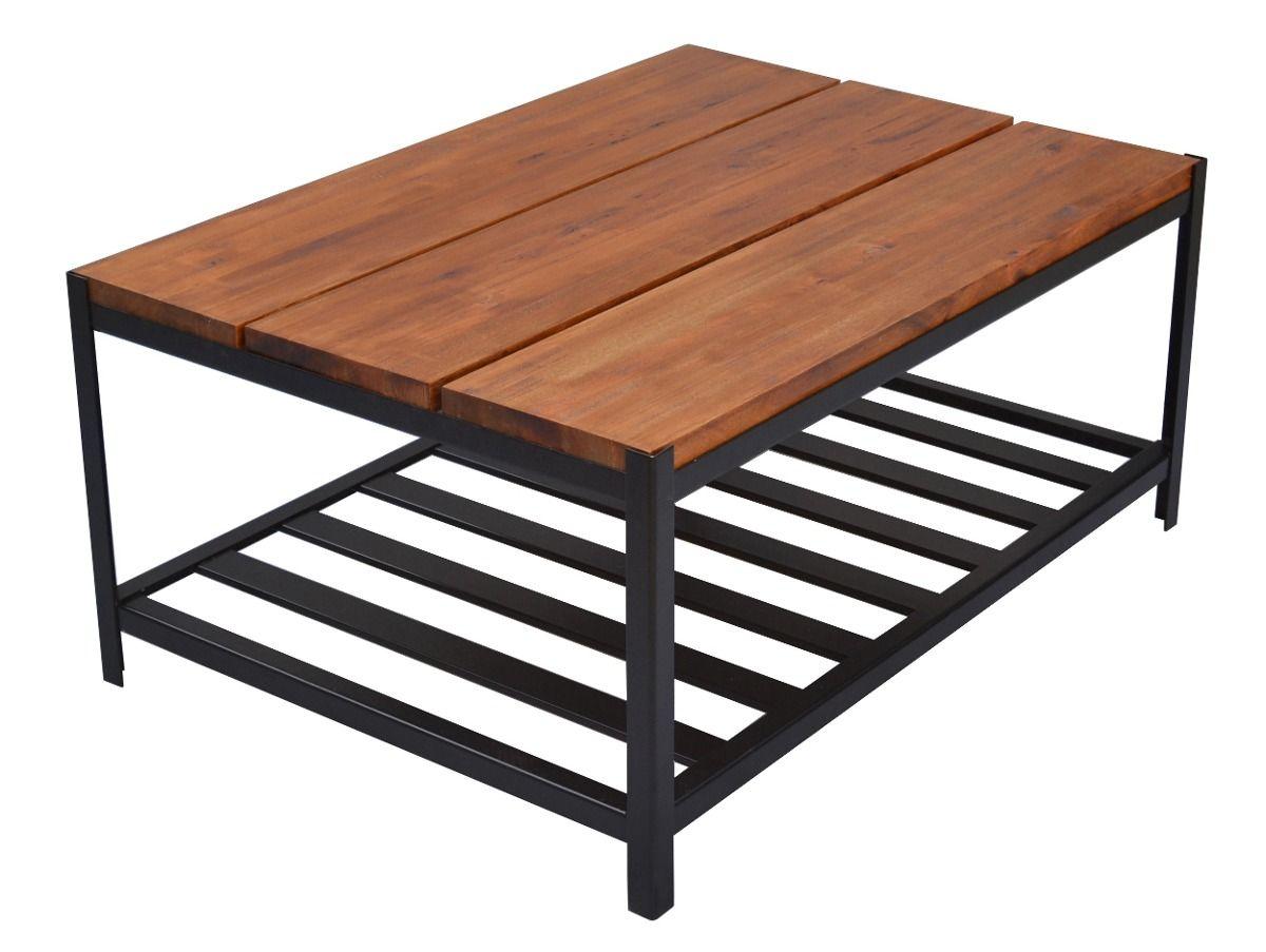 Mesa ratona hierro y madera para interior o exterior - Mesas de madera para exterior ...