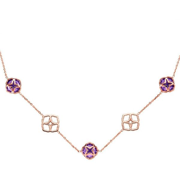 Chopard Imperiale Rose Gold Amethyst Cocktail Necklace 5975