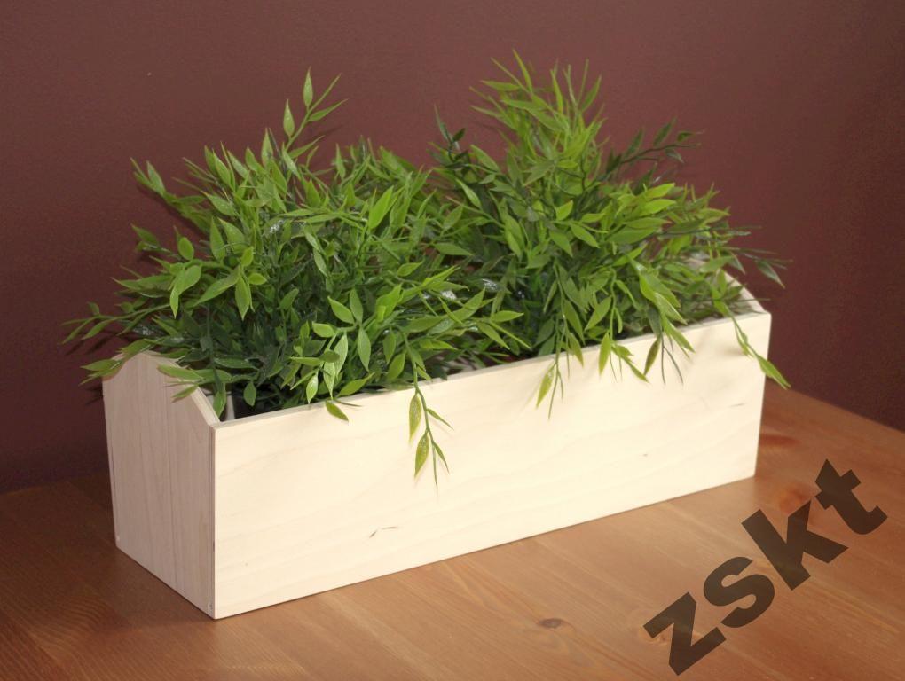 Drewniana Skrzynka Na Ziola Kwiaty Do Decoupage 3246997007 Oficjalne Archiwum Allegro Decoupage Planter Pots Plants