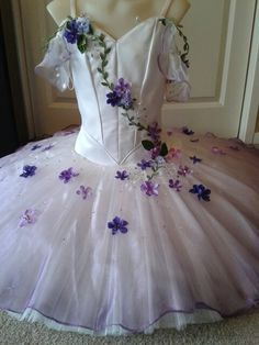 Lilac Fairy variation tutu in white with ombre skirt by Margaret Shore