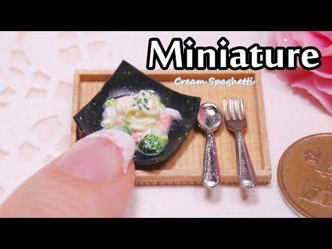 미니어쳐 크림스파게티 만들기 Miniature * Cream Spaghetti - YouTube