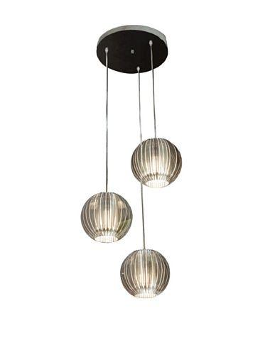 55% OFF Trend Lighting 3-Light Phoenix Pendant Lamp, Silver