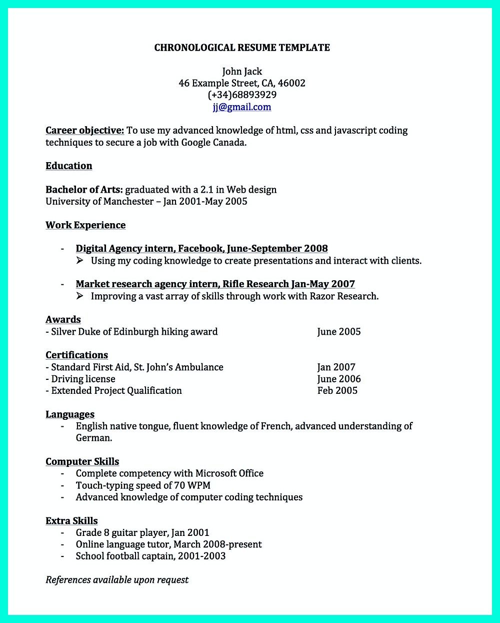 chronological resume is needed by people in making them understand how to write good resume in good order it is the most commonly applied format of r - How To Write Good Resume