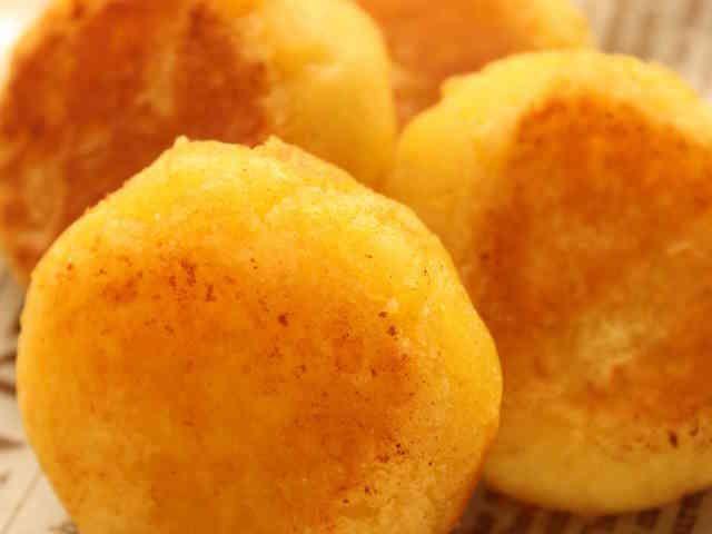 スイートポテト味のさつまいも団子♪の画像