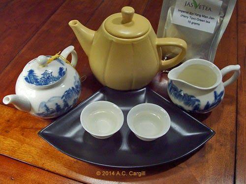 Little Yellow Teapot & the Tea Gang: Tea Stories: What's Tops About Xin Yang Mao Jian (Hairy Tips) Green Tea from JAS-eTea?