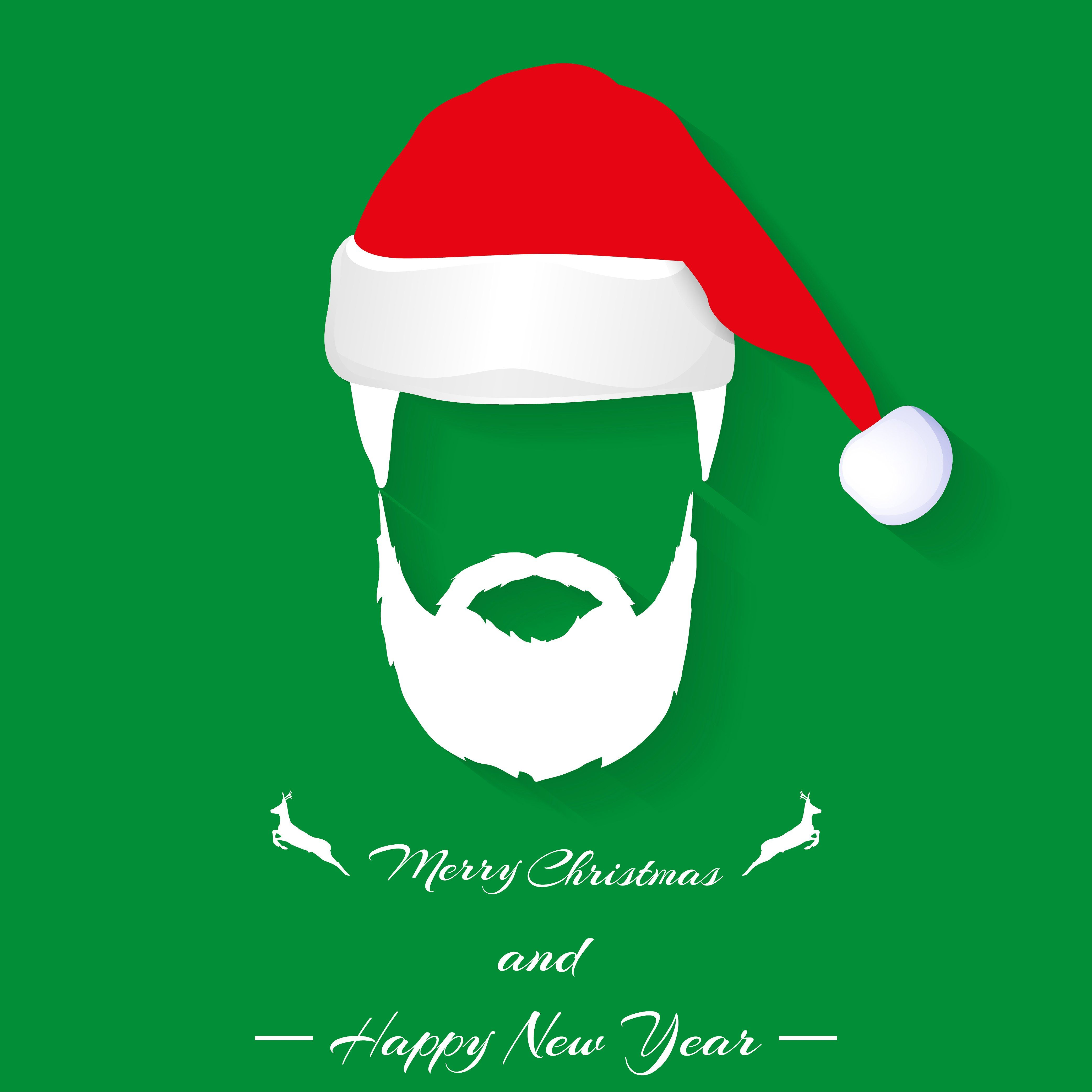 Santa Hat And Beard Illustrations Creative Market