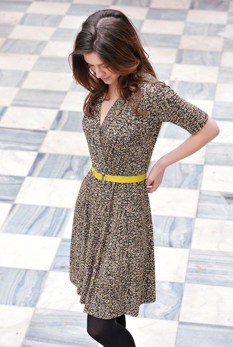 efdfc45f6f patterned wrap dress