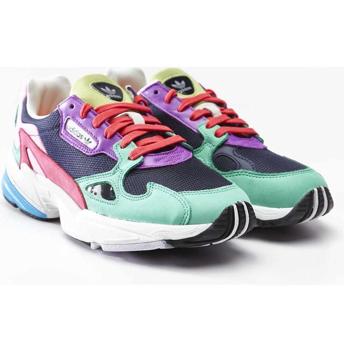 Sportowe Damskie Adidas Adidas Wielokolorowe Falcon W 211 Multi Collegiate Navy Hi Res Green Saucony Sneaker Sketchers Sneakers Shoes