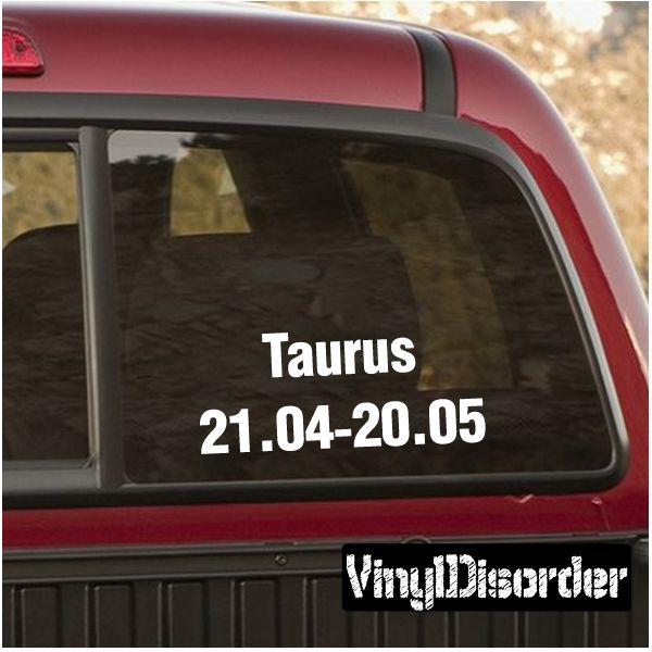 Taurus wall decal vinyl decal car decal zodiac al001