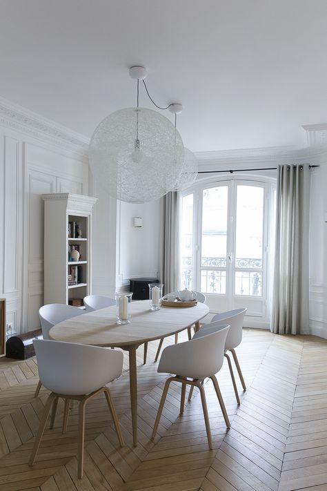 Salle à manger Appartement parisien- GCG ARCHITECTES wnetrza