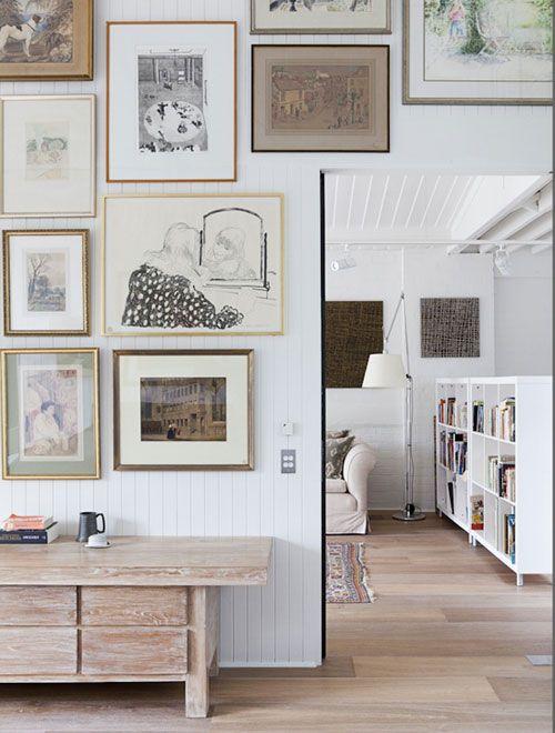 Beadboard Gallery Wall Home Deco