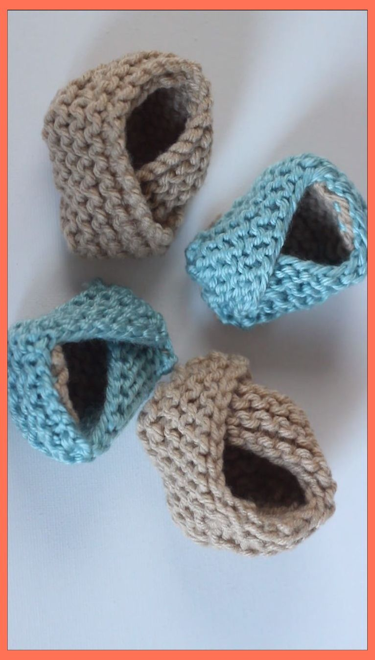 Pin on Baby booties knitting pattern