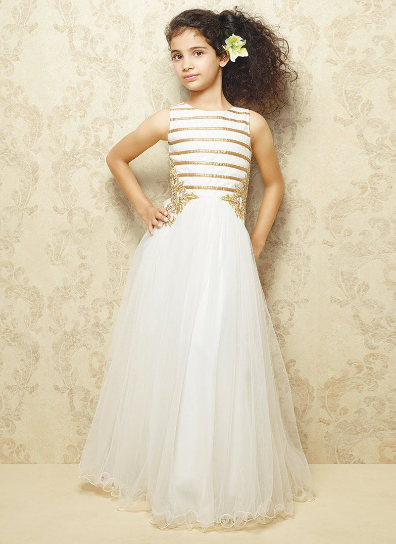 White net gown larinha pinterest gowns girls dresses and