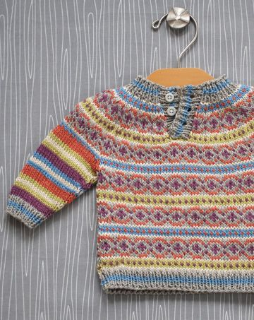 0ca37845009b Colorwork Baby Pullover