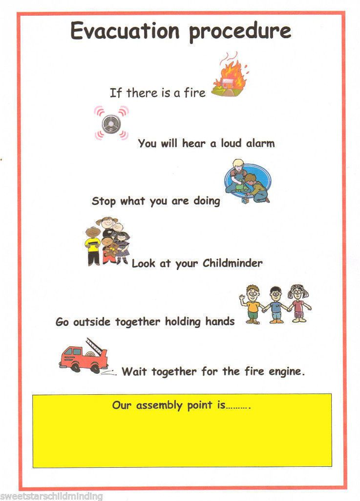 Details About Childminder Evacuation Procedure Poster