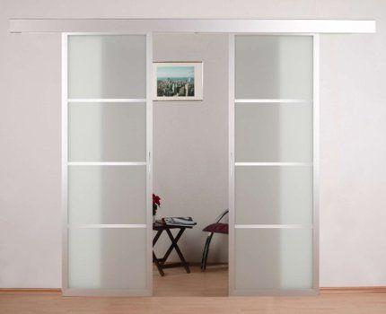 Schiebetüranlage 2fl win schiebetüranlage alu glas doors partition