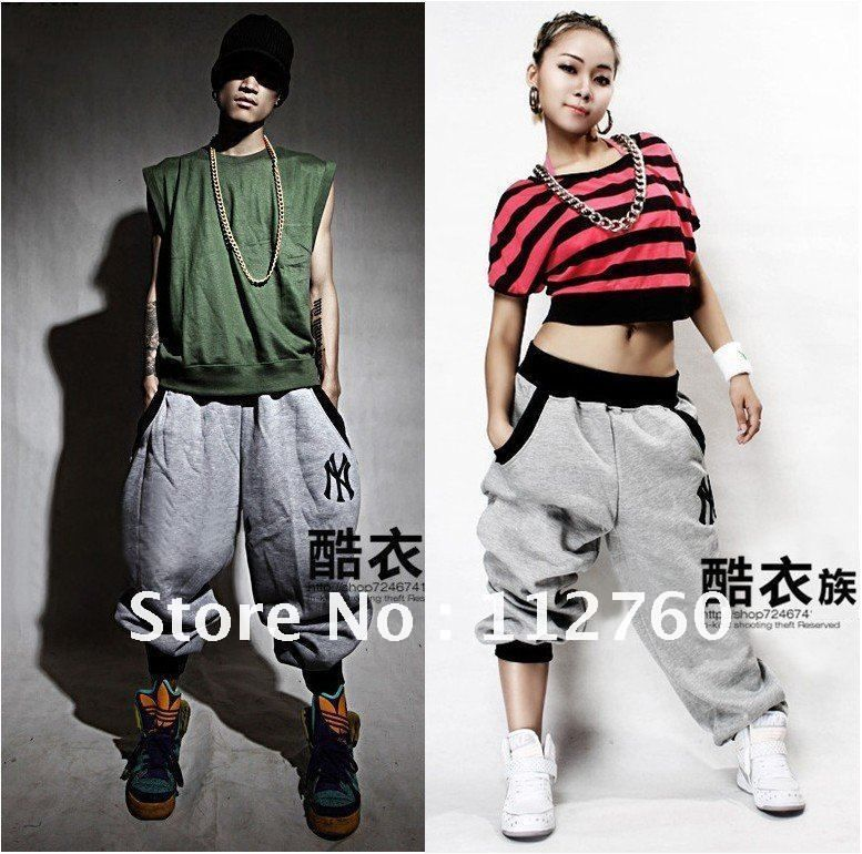 Hiphop Pants Boys Girls Hip Hop Dance Harem Sweatpants Men Women M 5xl Hip Hop Clothing Gray