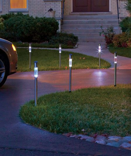 Set Of 6 Solar Driveway Markers Pathway Light Yard Lawn Outdoor Home Decor Driveway Markers Solar Pathway Lights Solar Driveway