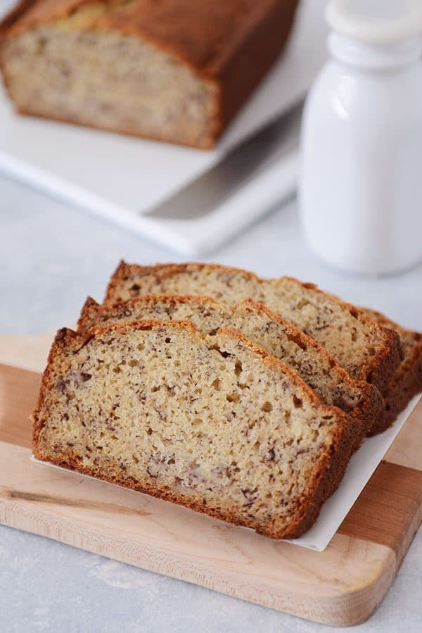 Sour Cream Banana Bread Recipe One Bowl Mel S Kitchen Cafe Recipe Sour Cream Banana Bread Sour Cream Recipes Best Banana Bread