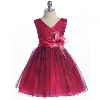 Chic Baby Girls Fuchsia Tulle Flower Girl Easter Pageant Dress 2T-12 - photo