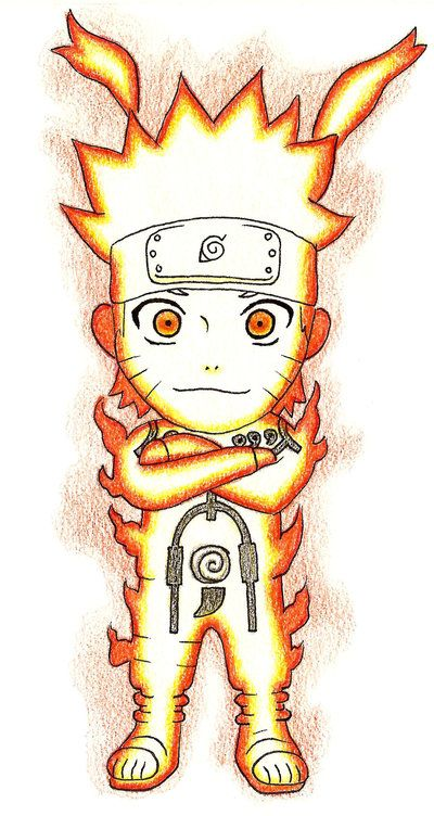 Chibi Naruto Nine Tailes Chakra Mode By Gallade007 On Deviantart
