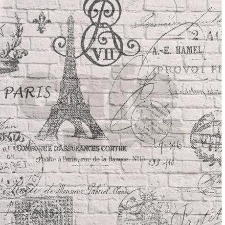 vintage paris eiffel tower scripts Shower Curtain #frenchscriptshowercurtainglam #eiffletowershowercurtainglam