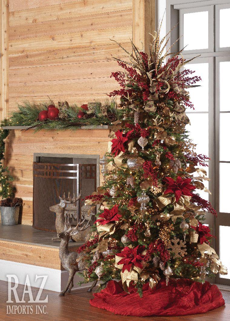 Decoracion de arboles de navidad tradicionales 2017 2018 - Arboles de navidad manualidades navidenas ...