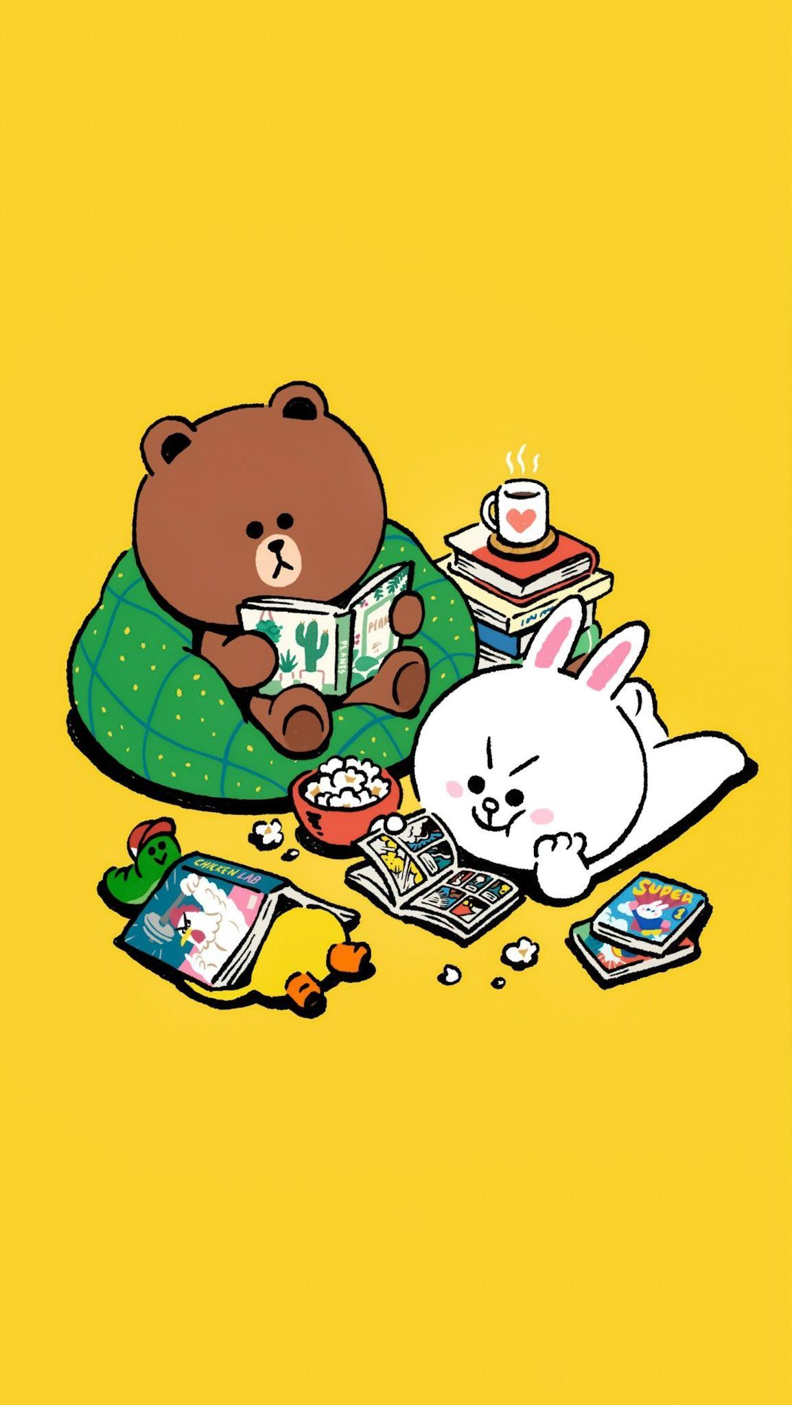 ปักพินในบอร์ด Line Friends ☆ BG