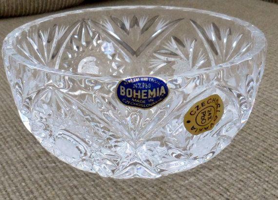 Vintage Bohemia Lead Crystal New Not
