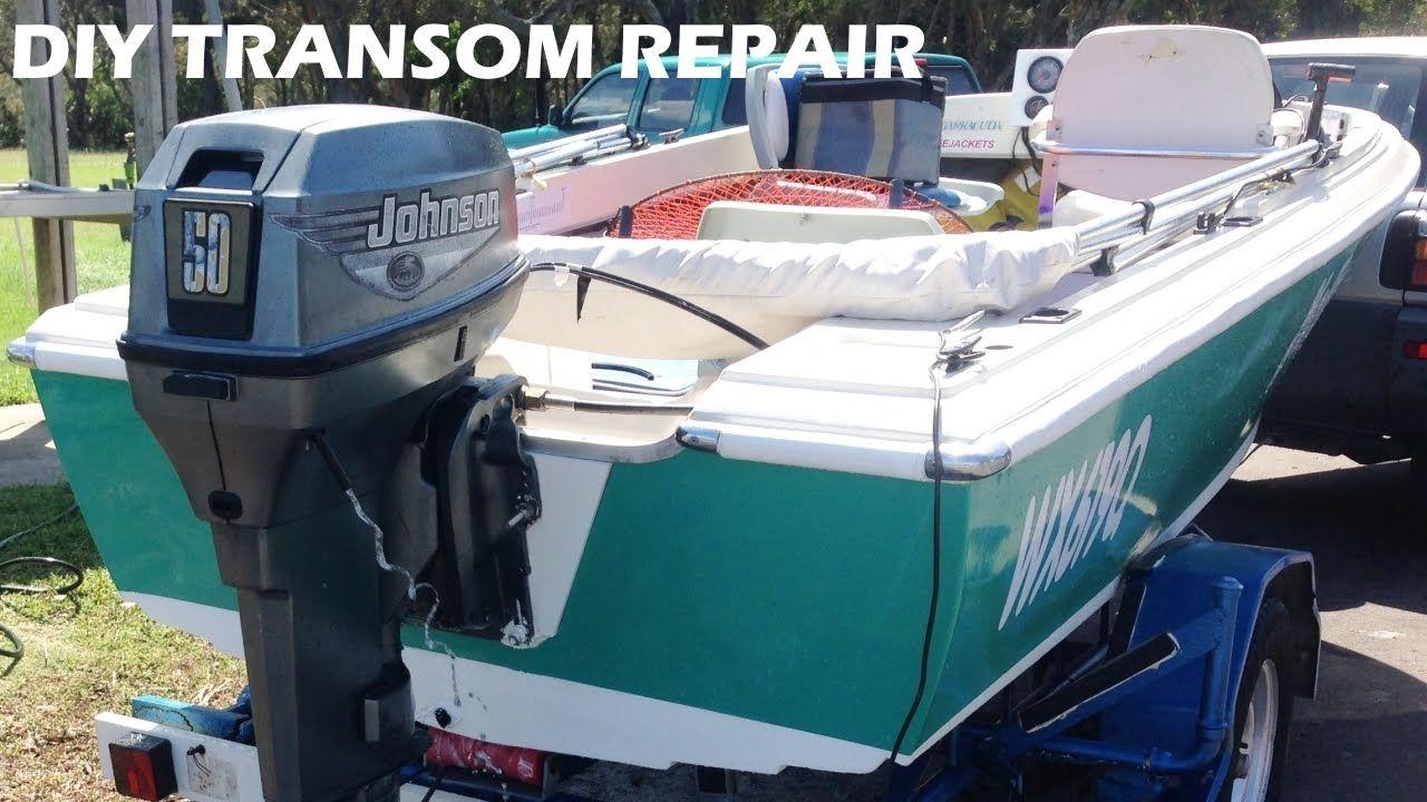 boat transom repair made easy diy lake life pinterest boat rh pinterest com