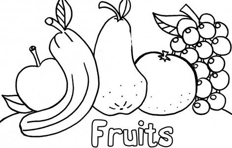 Fruit And Vegetable Coloring Pages | colour printouts | Pinterest ...