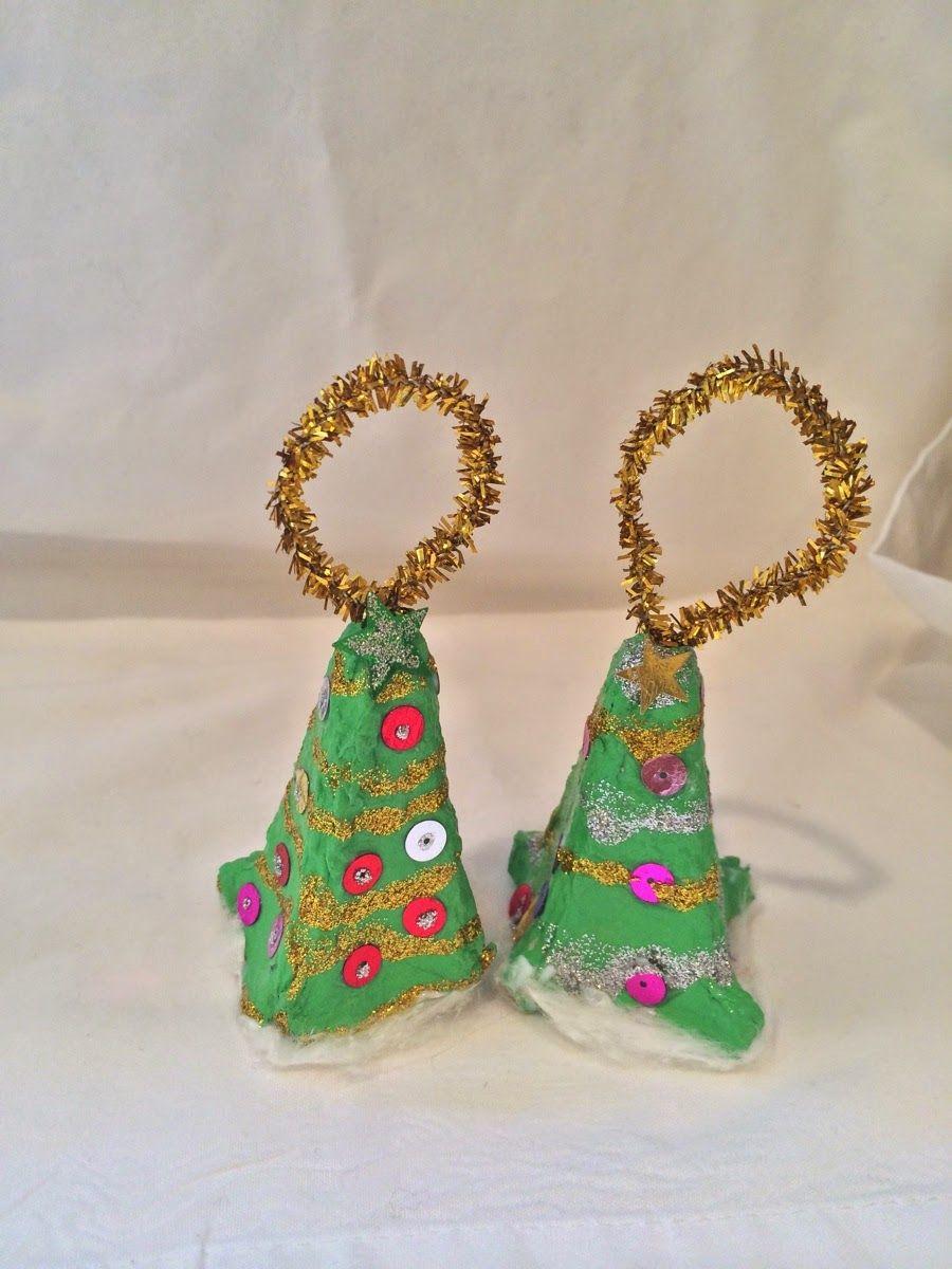 Preschool crafts for kids egg carton christmas tree for Egg carton christmas crafts
