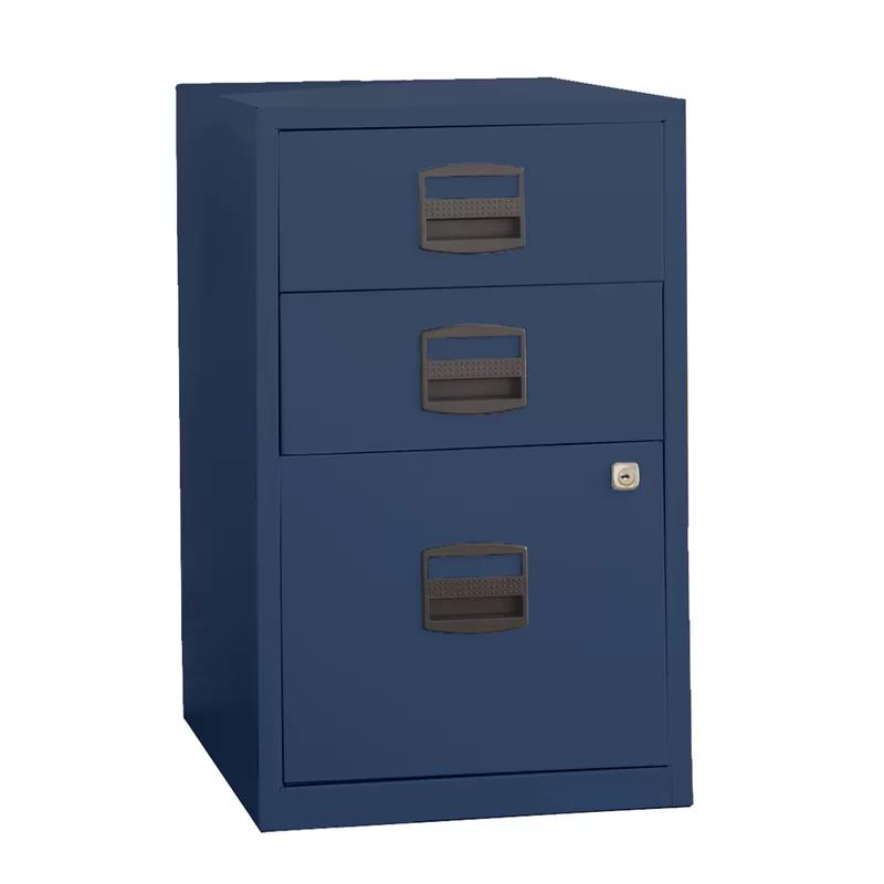 Rutherford 3 Drawer Vertical Filing Cabinet Filing Cabinet Steel Storage Cabinets Under Desk Storage