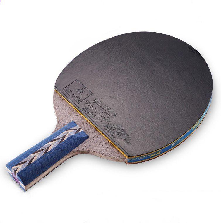 sportovní zboží pravá dvojitá ryba pětihvězdičková raketa pro stolní tenis  Straight Grip 5A-E dvojité obličejové reverzní lepidlo ping-pong netopýři 8e6bba6524
