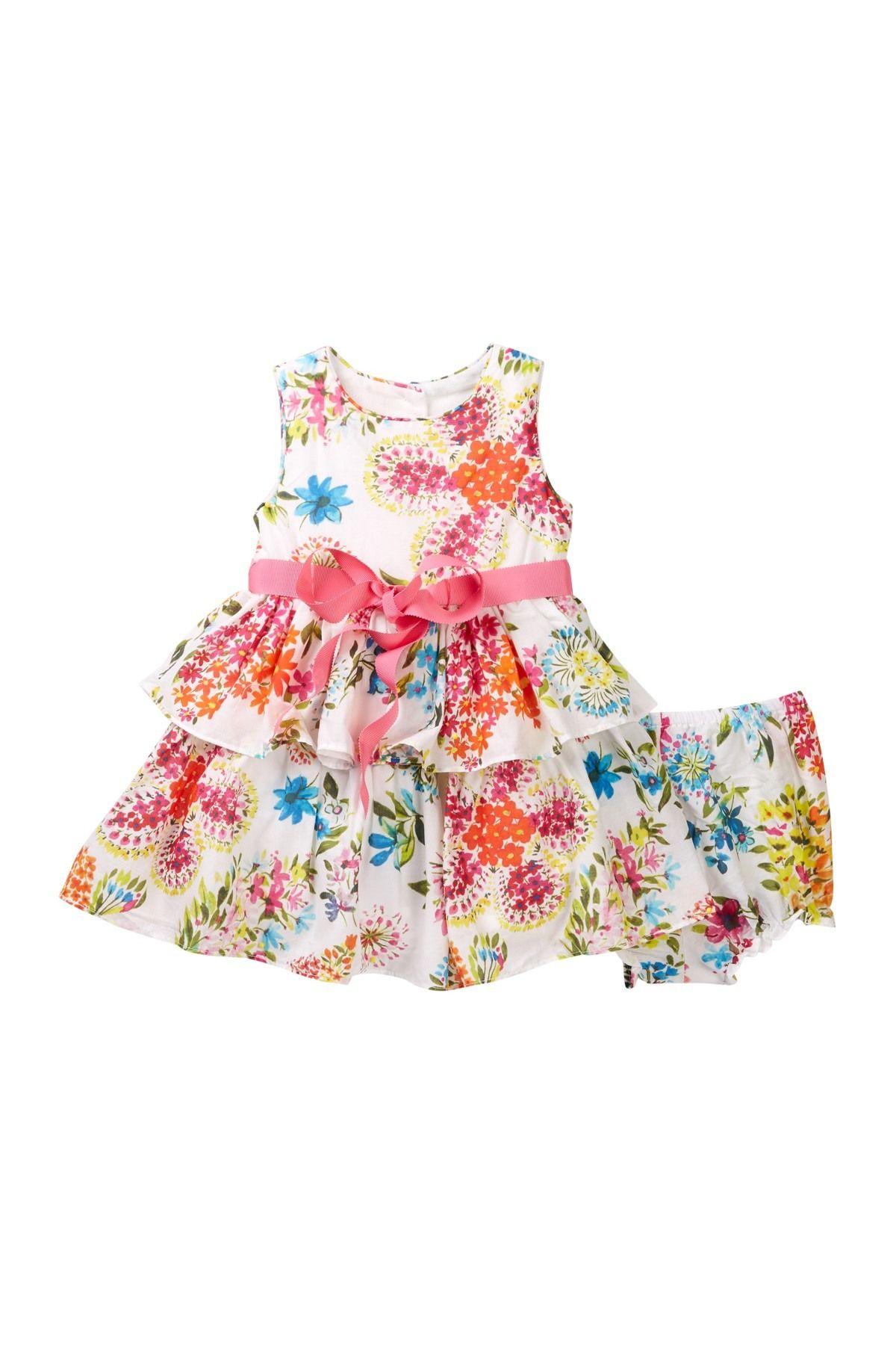 Sleeveless Print Dress Baby Girls