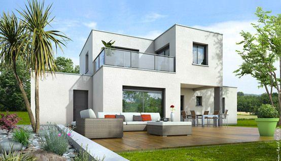 Plan maison toit plat opaline