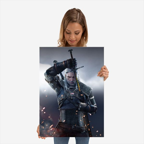Geralt Sword | Displate thumbnail
