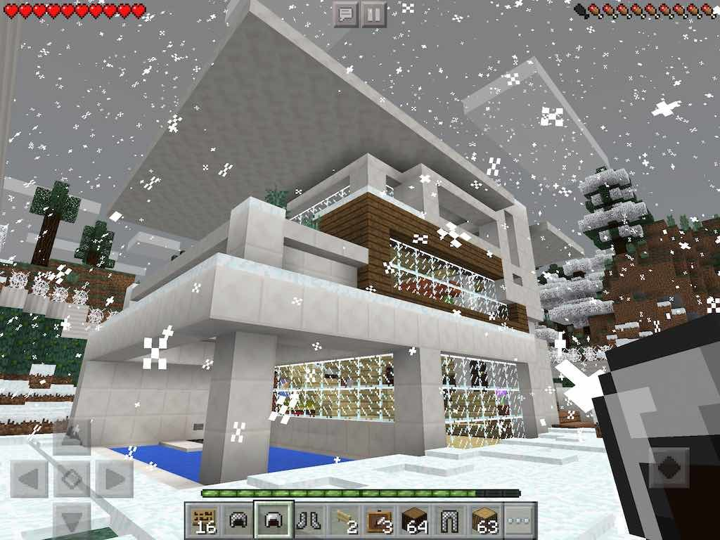 Modern Redstone House Map Download MCPE Love this house