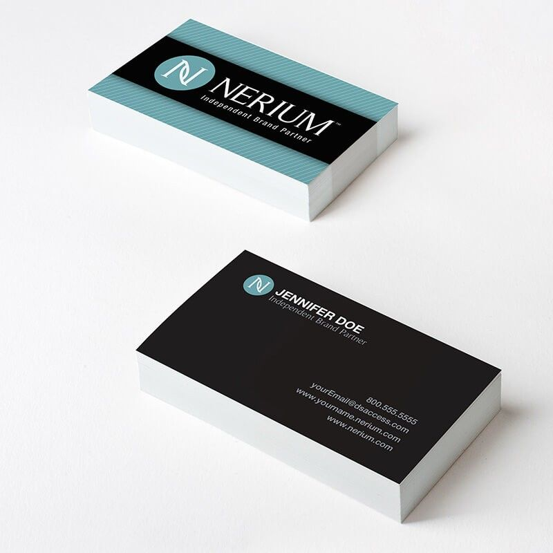 Nerium Teal Stripes Business Cards Stand Out With Nerium