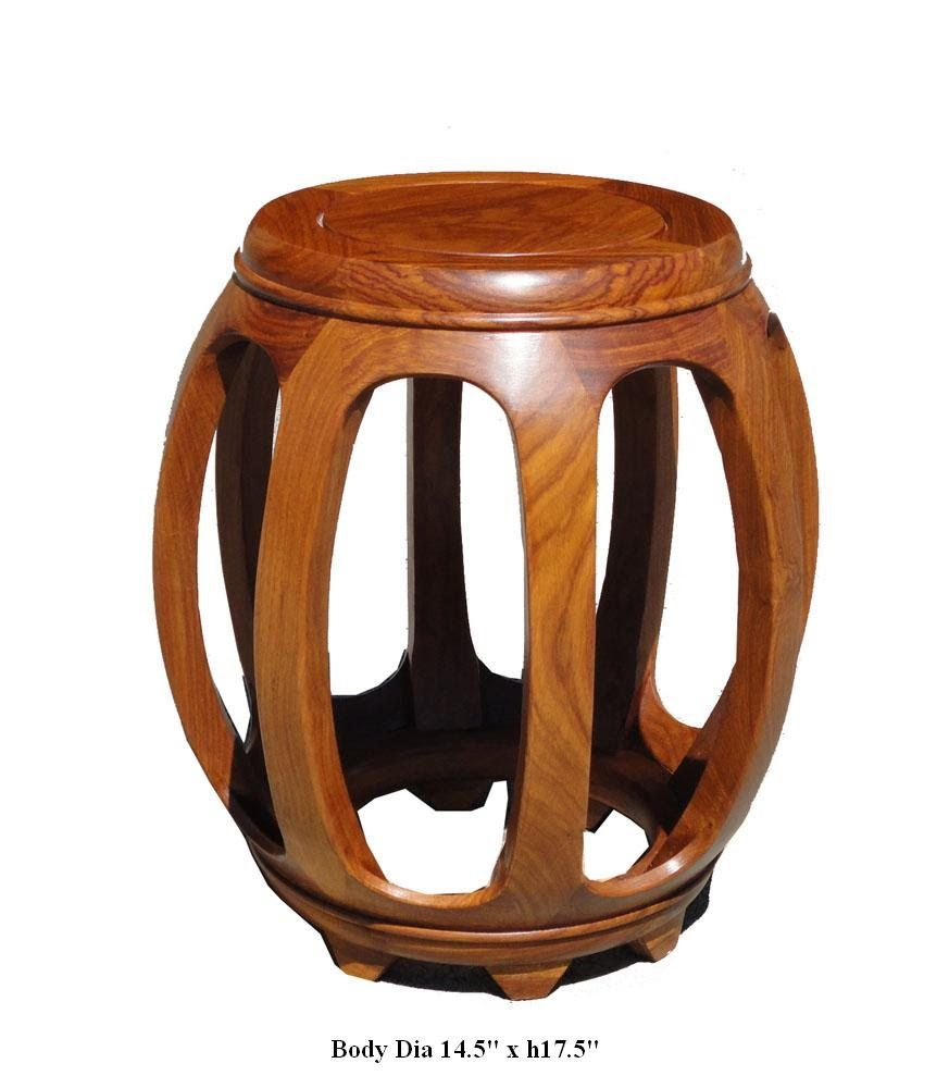 Chinese Solid Wood Huali Barrel Round Stool Fs453 This Is A Nice Traditional Chinese Style Round Barrel Shape Stool W Solid Wood Coffee Table Round Stool Stool [ 1000 x 873 Pixel ]