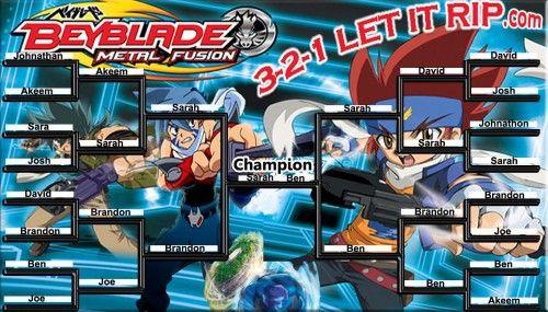 Beyblade Tournament Bracket Comic Books Party Books